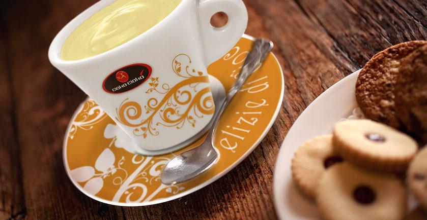 cioko-cioko tazza gialla mokavi caffe
